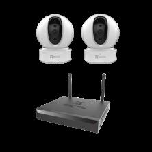 Видеонаблюдение EZVIZ C6CN (2 шт) + X5S