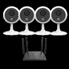Видеонаблюдение EZVIZ C1C (4 шт) + W3