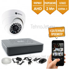 "Комплект AHD видеонаблюдения на 1 внутреннюю камеру 2Мп ""AHD-Опти-1"""