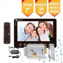 """Комплект видеодомофона с замком, экран 7"""", чёрный, 700Твл """"Стандарт"""""""
